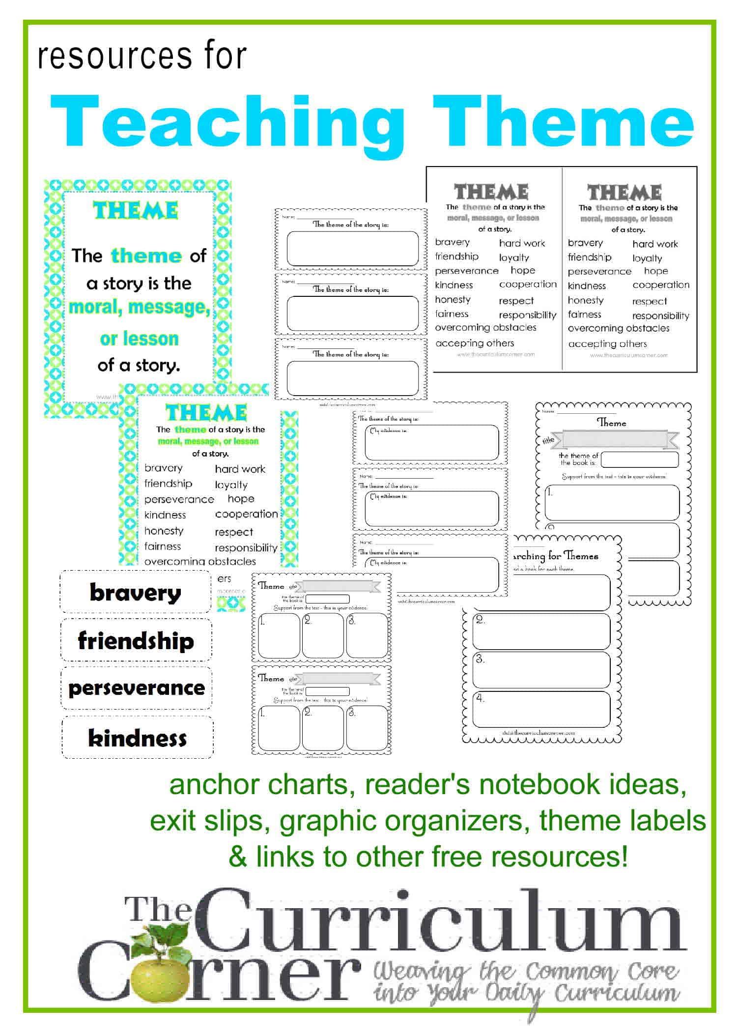 Teaching Theme in Reading - The Curriculum Corner 123 [ 2100 x 1500 Pixel ]