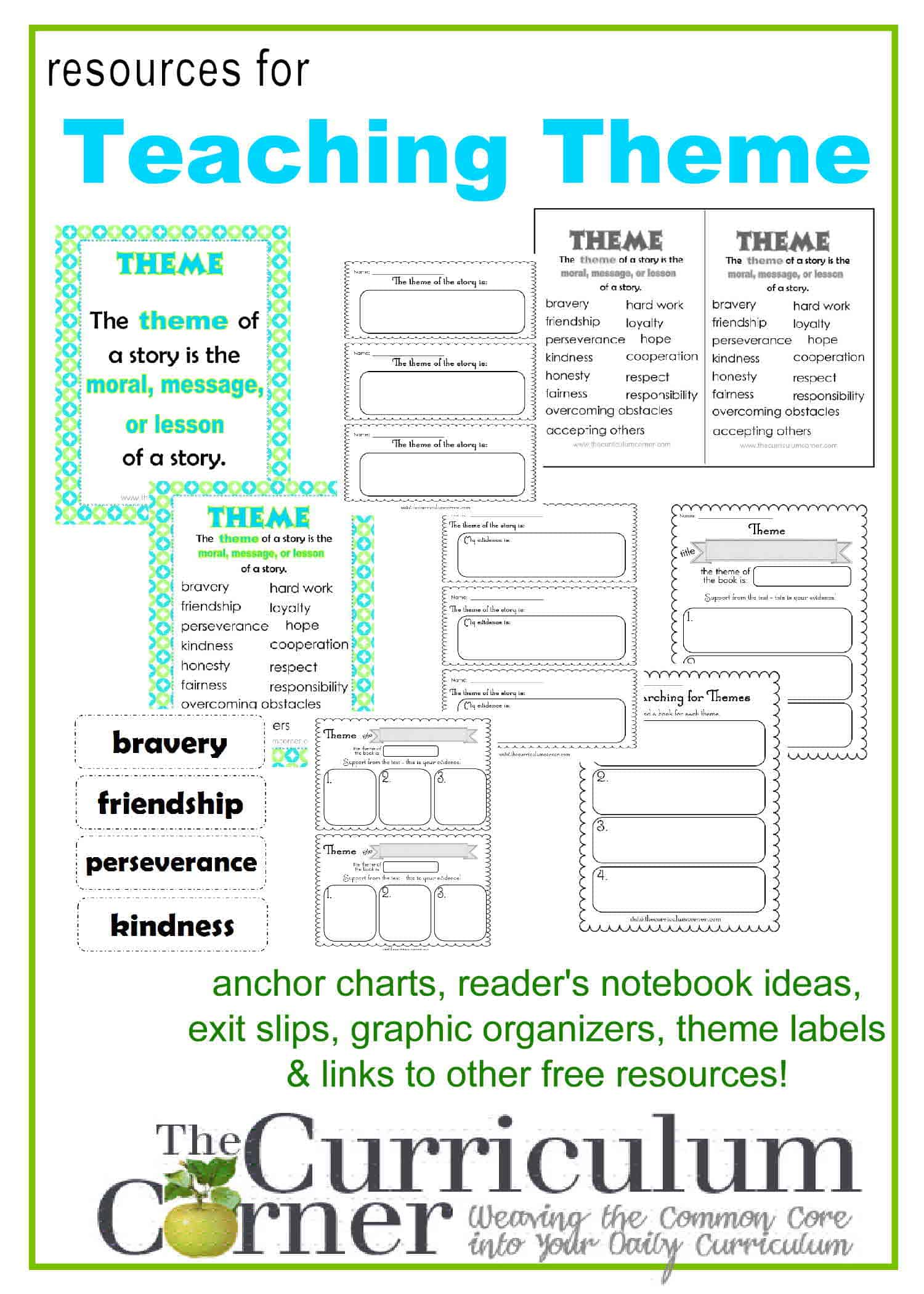 medium resolution of Teaching Theme in Reading - The Curriculum Corner 123