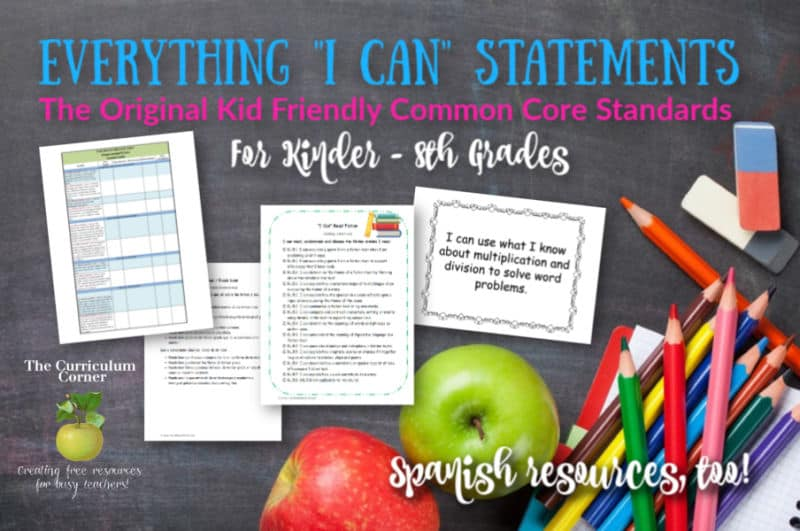 I Can Common Core Statements
