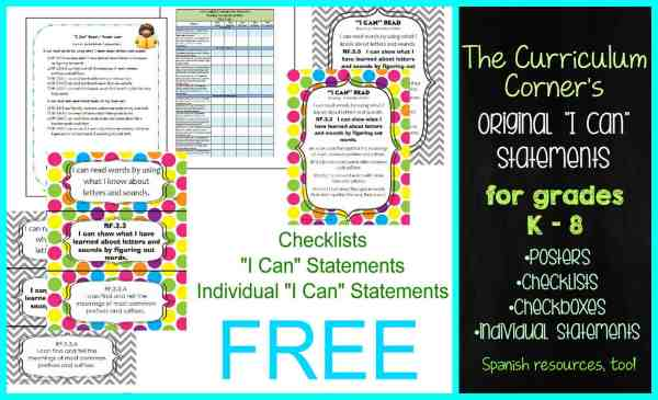 Curriculum Corner I Can Statements 3rd Grade Math