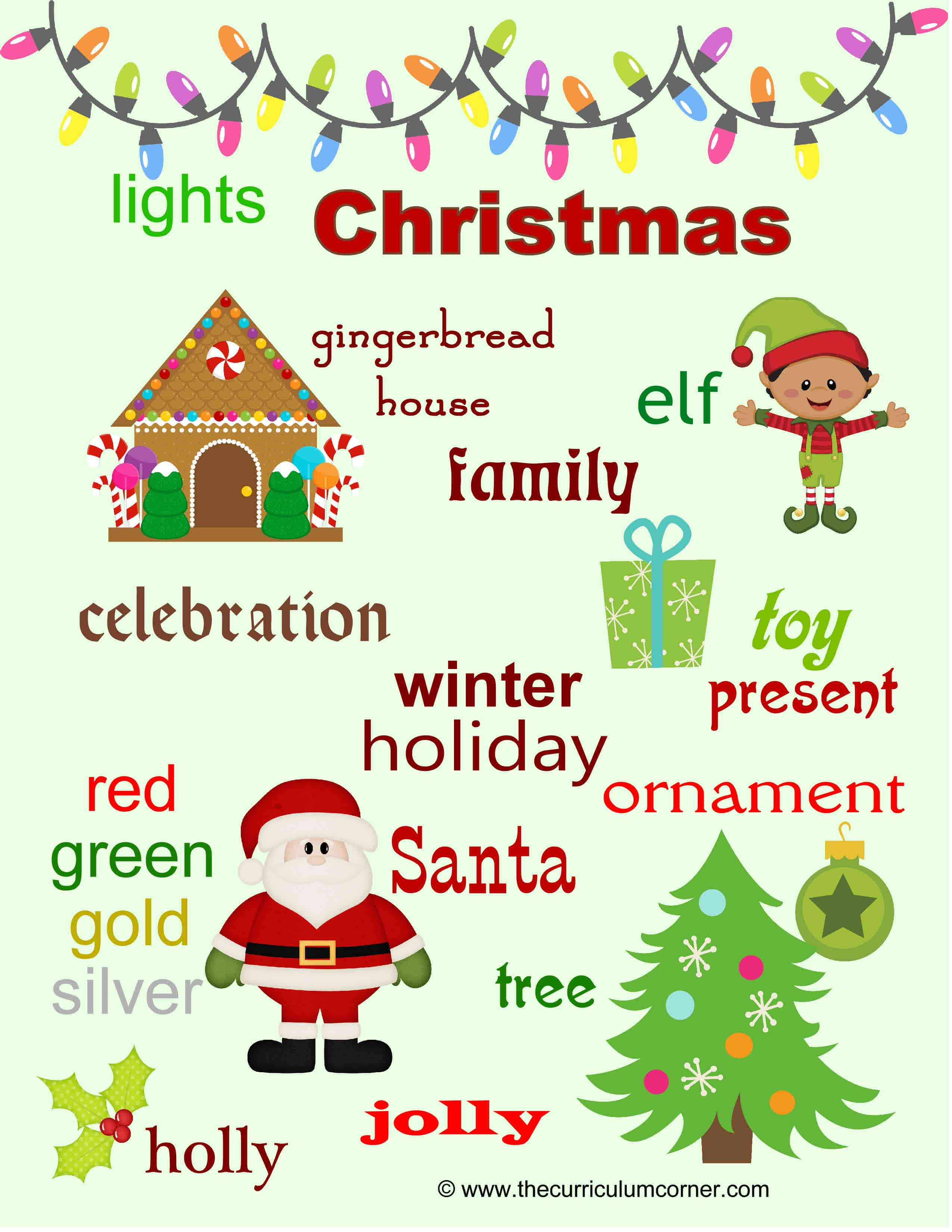 Christmas Spelling Words.Christmas Word Wall For Writers The Curriculum Corner 123