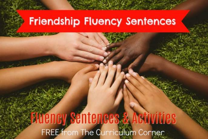 This collection of friendship fluency sentences can give your students fluency practice during back to school time or even during the month of February for some Valentine's Day fun.