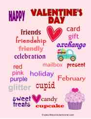 Valentine's Day Themed Word Wall for the Classroom   Great free writing workshop tool for your students from The Curriculum Corner