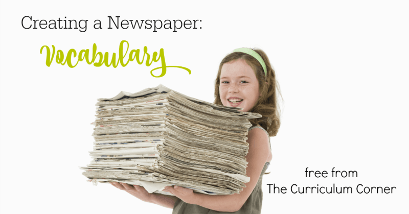 This collection of free resources can be used to help your student writers as they begin exploring newspaper vocabulary in the classroom.