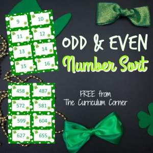FREE Odd and Even Sort for Numbers from The Curriculum Corner