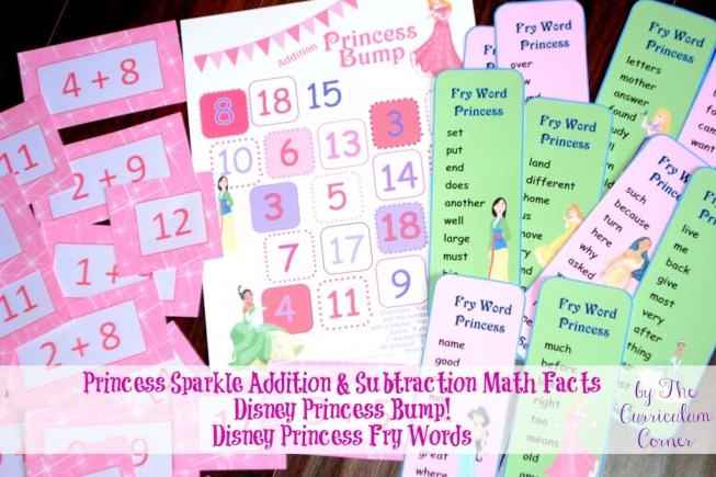 Creating the perfect educational Disney Princess Easter basket | Princess Bump | Princess Fry Words | Sparkle Math Facts | The Curriculum Corner