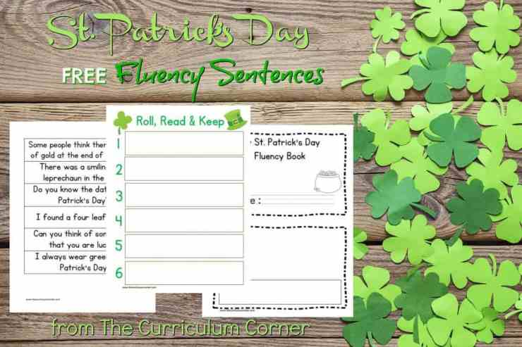 These St. Patrick's Day Fluency Sentences are great to print for a quick center during the month of March.