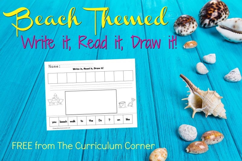 These beach scrambled sentences are designed to be a free, engaging literacy center for your classroom.