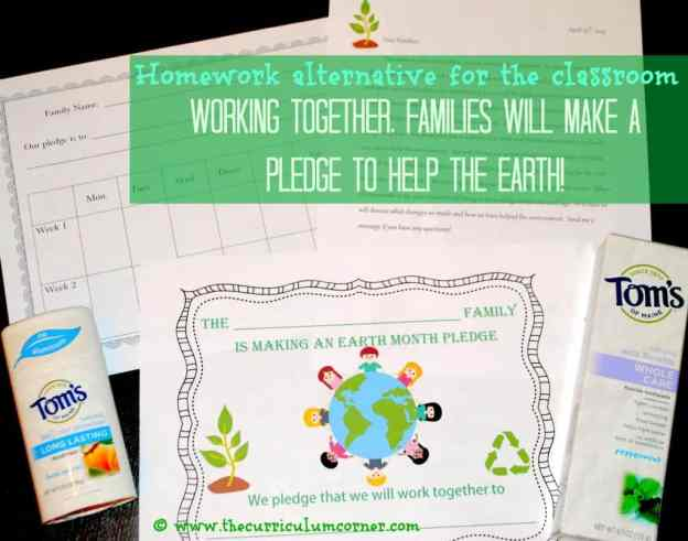 FREE Earth Day Homework Alternative from The Curriculum Corner