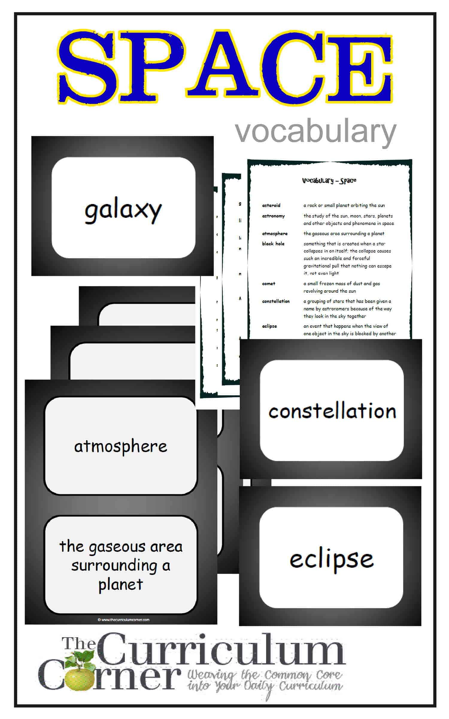 Weekly Themed Vocabulary Words Amp Activities