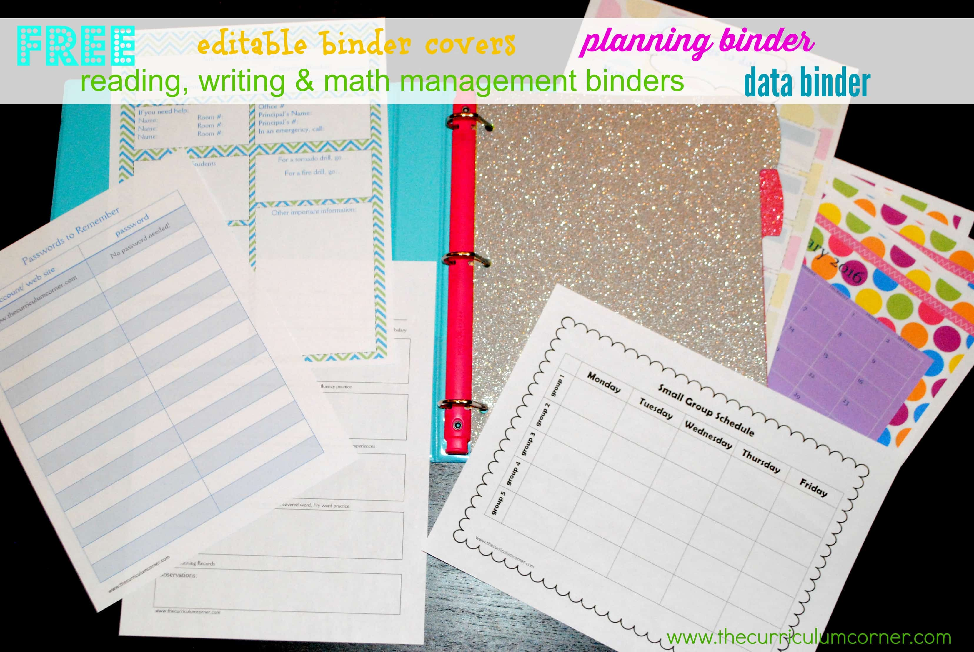 editable binder covers can add the perfect touch to your classroom organization