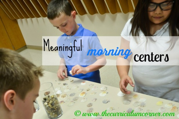 Meaning Morning Centers by The Curriculum Corner FREE