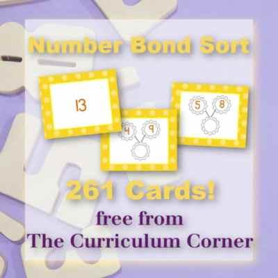 Number Bonds: Card Sort Activity