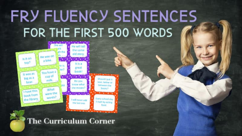 fry word fluency phrases