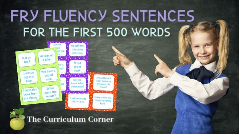 fry word fluency phrases