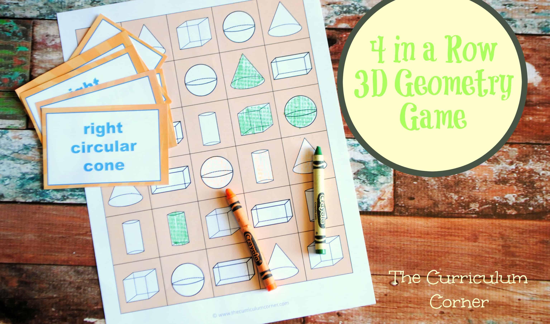 1st Grade Geometry The Curriculum Corner 123