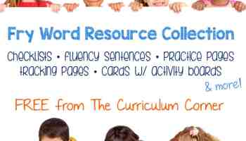Fry Word Practice Pages - The Curriculum Corner 123