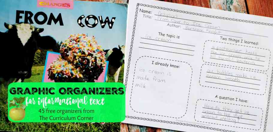 Graphic Organizers for Informational Text FREE from The Curriculum Corner | 45 organizers! | nonfiction reading