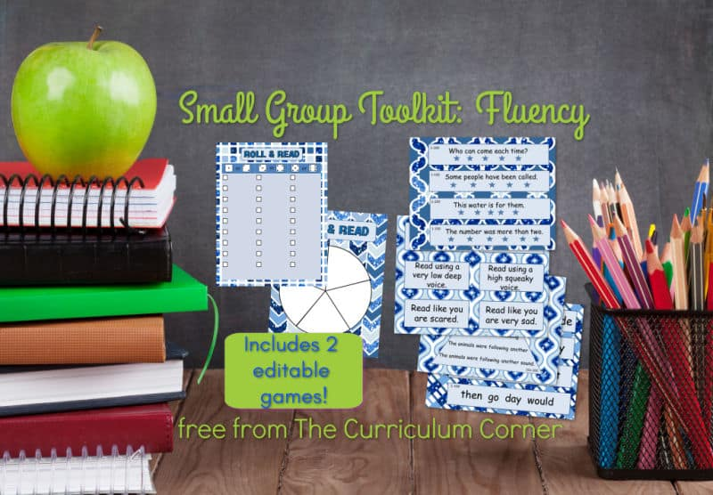 photograph about Printable Reading Fluency Games named Fluency for Minimal Categories - The Curriculum Corner 123