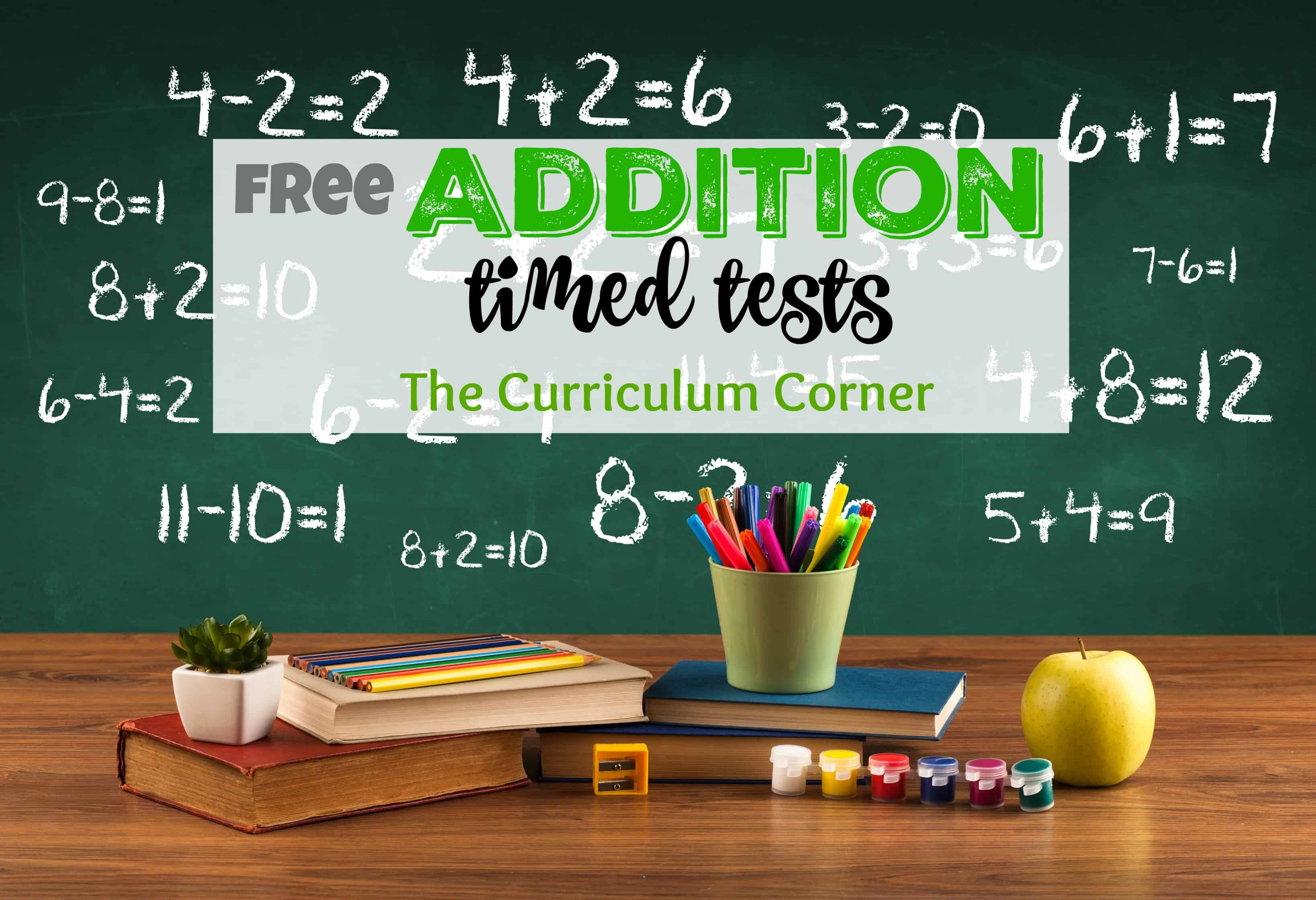 hight resolution of Addition Timed Tests - The Curriculum Corner 123