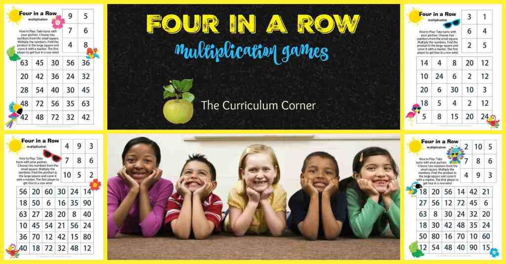 Four in a Row Bird Multiplication Games FREE from The Curriculum Corner | Tropical Birds | Summer |Beach