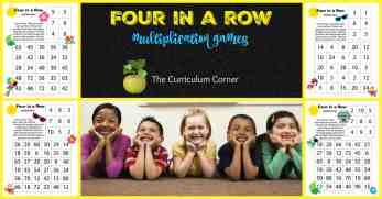 Four in a Row Multiplication Games FREE from The Curriculum Corner | Tropical Birds | Summer |Beach