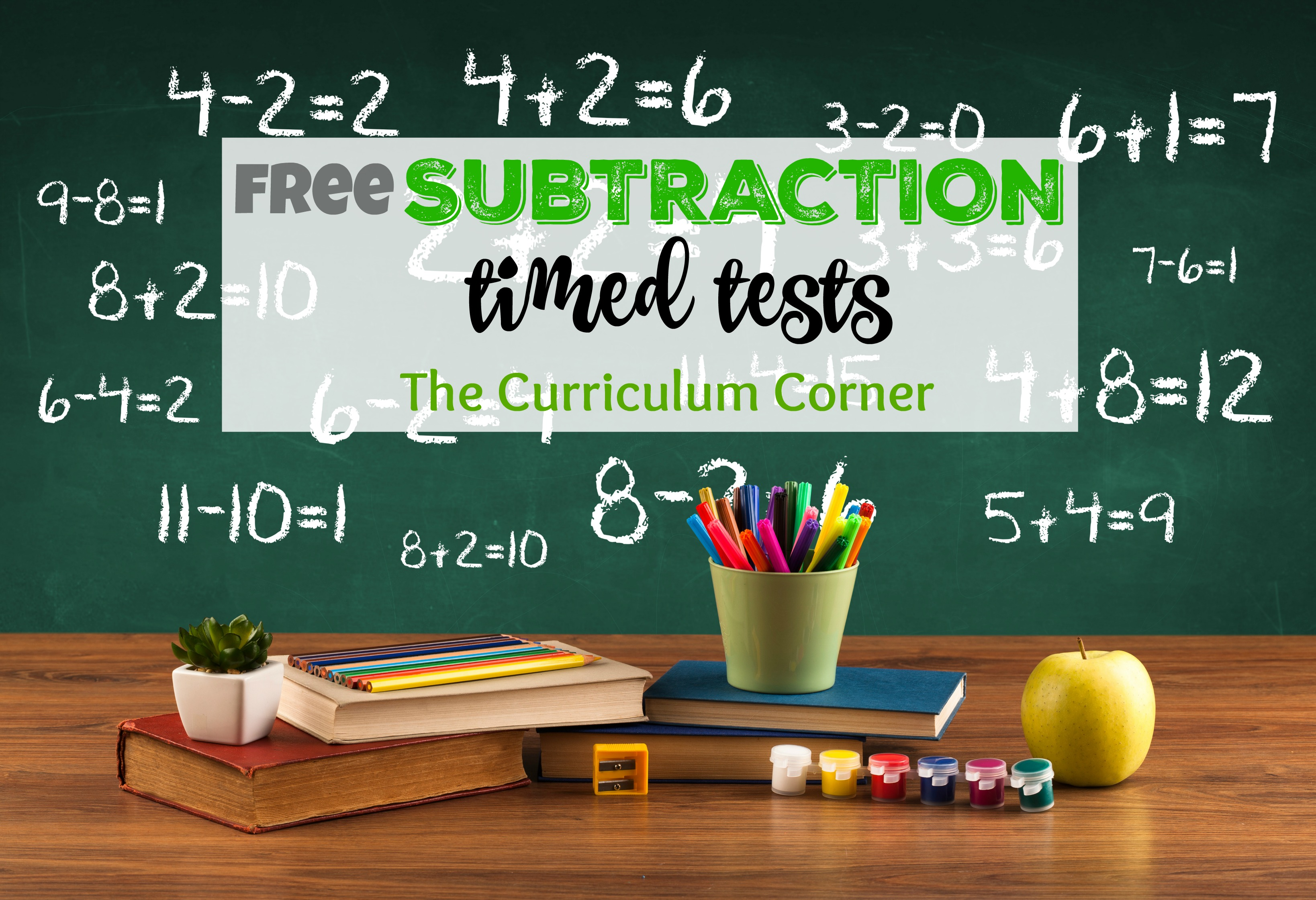 UPDATED** Subtraction Timed Tests - The Curriculum Corner 123