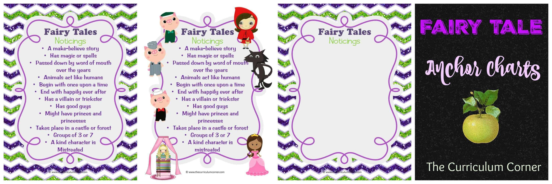 Fairy Tale Reading Unit of Study - The Curriculum Corner 123 [ 1000 x 3000 Pixel ]