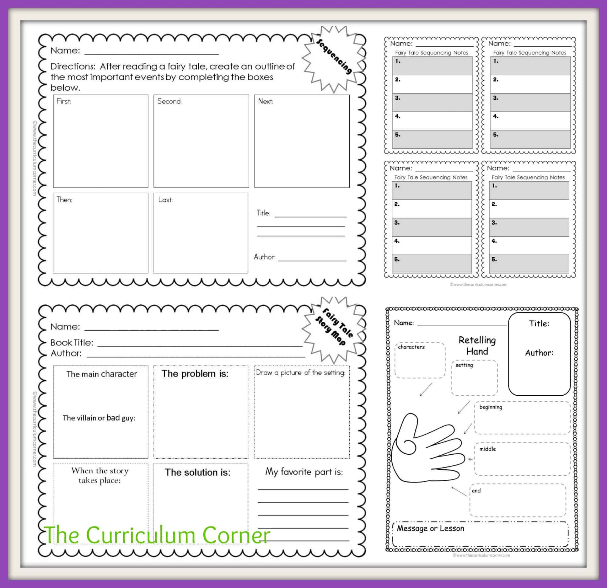 small resolution of Fairy Tale Reading Unit of Study - The Curriculum Corner 123