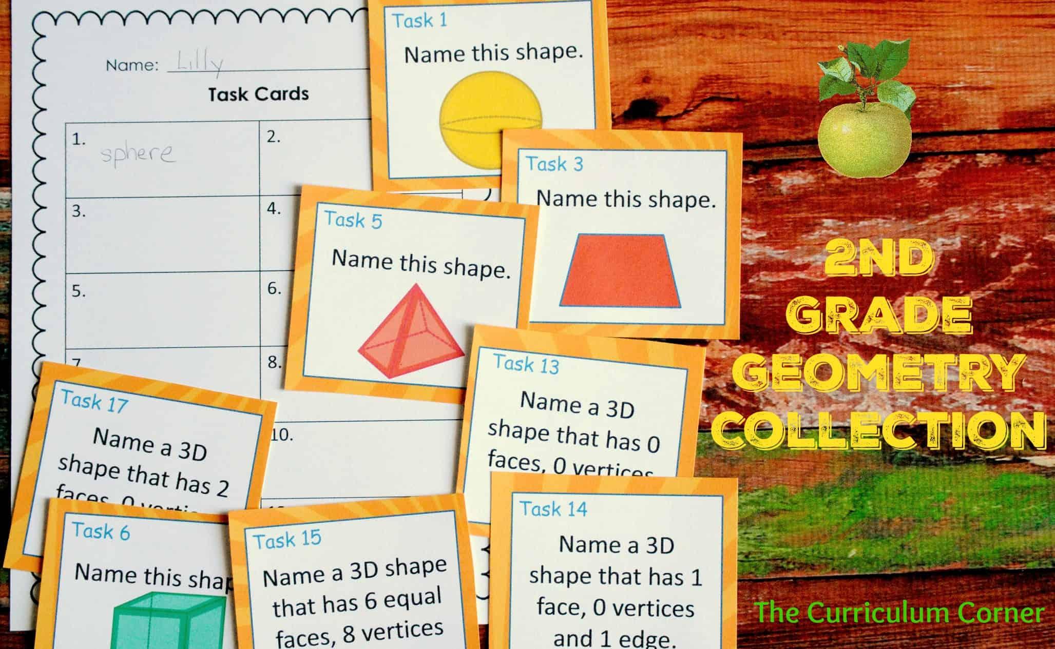 2nd Grade Geometry - The Curriculum Corner 123 [ 1265 x 2055 Pixel ]