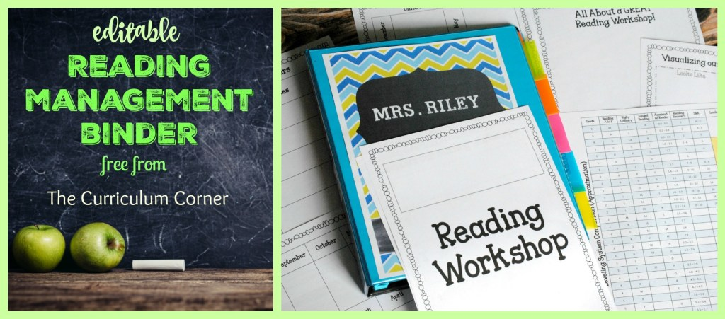 Editable Reading Management Binder FREE from The Curriculum Corner