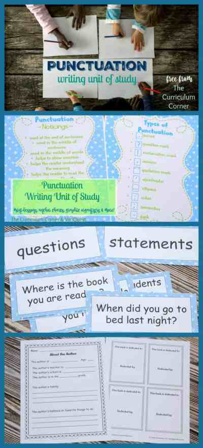WOW! Great FREEBIE! Punctuation Writing Unit of Study from The Curriculum Corner & VariQuest