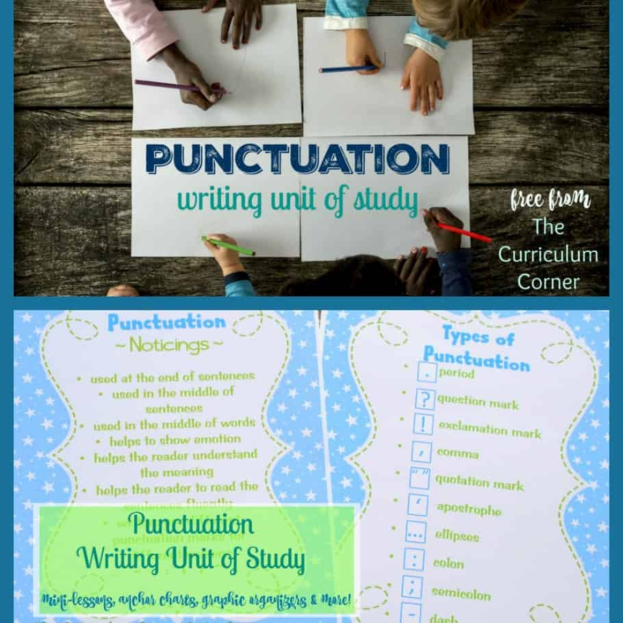This free punctuation unit of study is designed to help you weave a punctuation focus into your writing workshop.