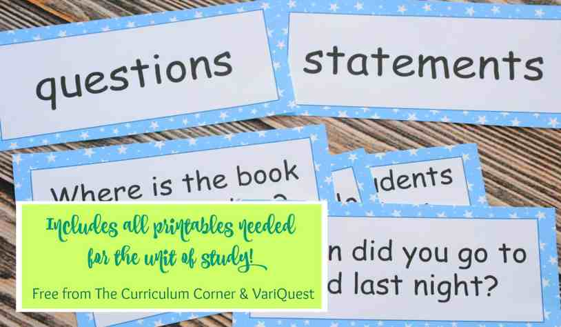 WOW! FREEBIE Punctuation Writing Unit of Study from The Curriculum Corner & VariQuest