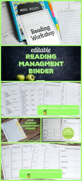FREEBIE Editable Reading Management Binder FREE from The Curriculum Corner