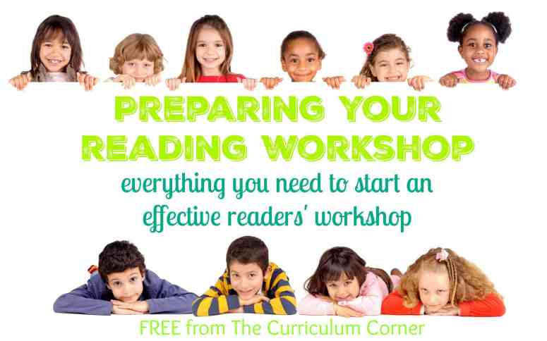 Getting started with reading workshop: A FREE collection from The Curriculum Corner