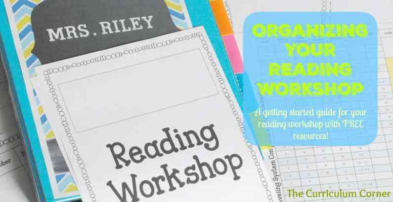 Organizing your reading workshop: Includes FREE student data binder & editable reading management binder The Curriculum Corner