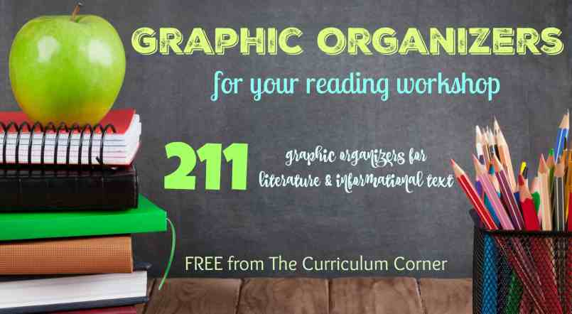 WOW!!! 211 FREE reading graphic organizers! The Curriculum Corner