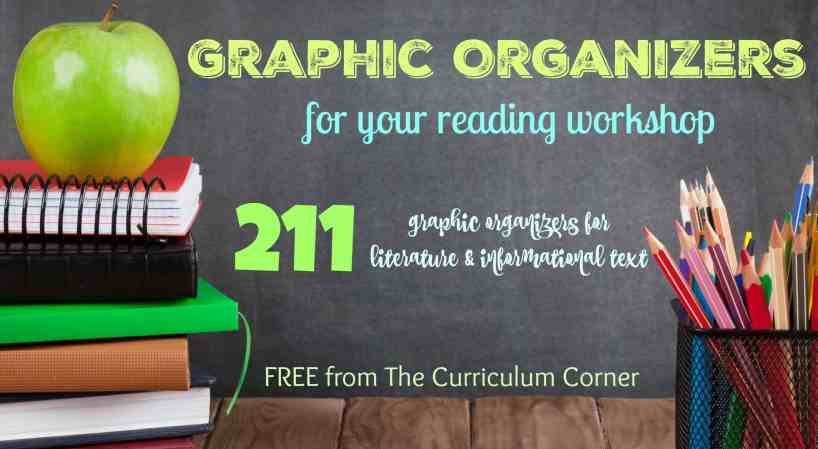 WOW!!! 211 FREE graphic organizers for reading! The Curriculum Corner