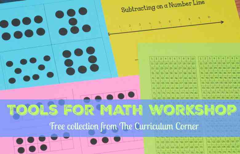 Tons of FREE tools for your math workshop from The Curriculum Corner