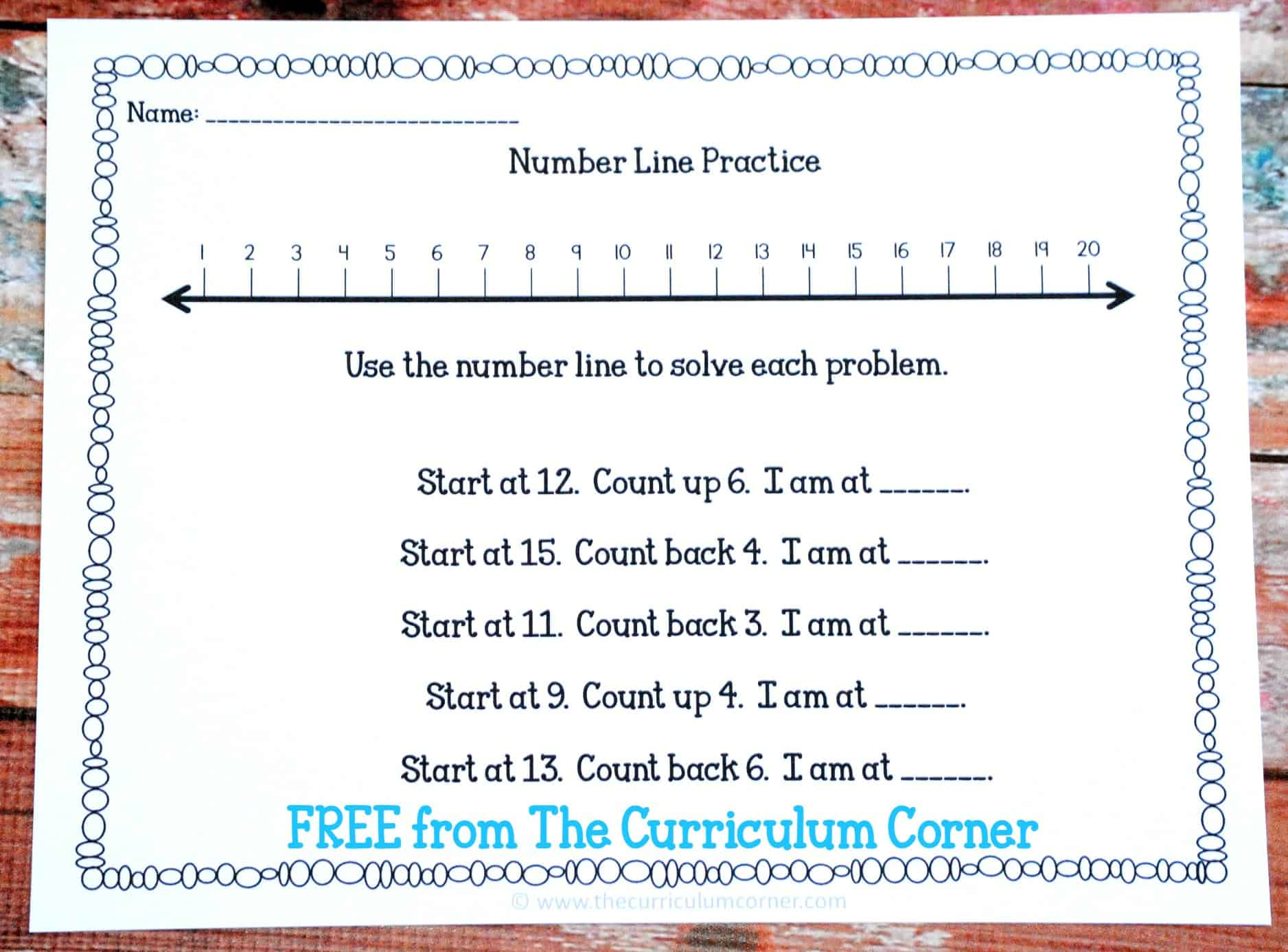 Freebie Numbers Counting Amp Ordering Math Unit Of Study For 1st Amp 2nd Grades Free From The