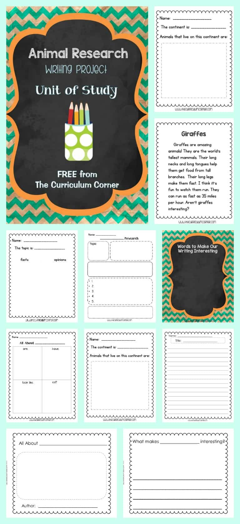 This animal research writing unit of study will help you build excitement about writing informational text in your classroom.
