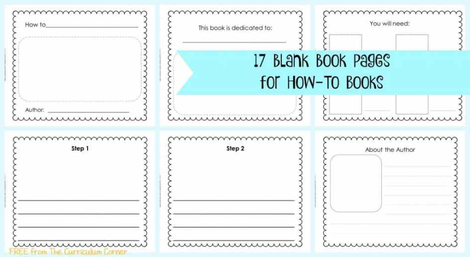 FREE 17 Blank Book Pages | How-To Writing Unit of Study for 1st, 2nd and 3rd Grades from The Curriculum Corner