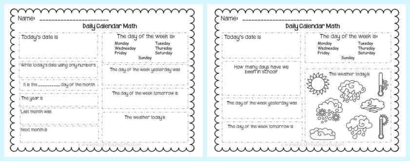 FREE Calendar Math Activities from The Curriculum Corner | calendar math journal | problem solving | anchor charts & more