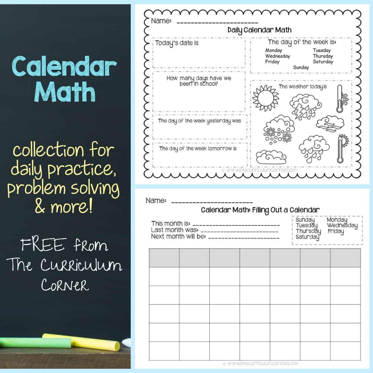 Calendar Math Collection