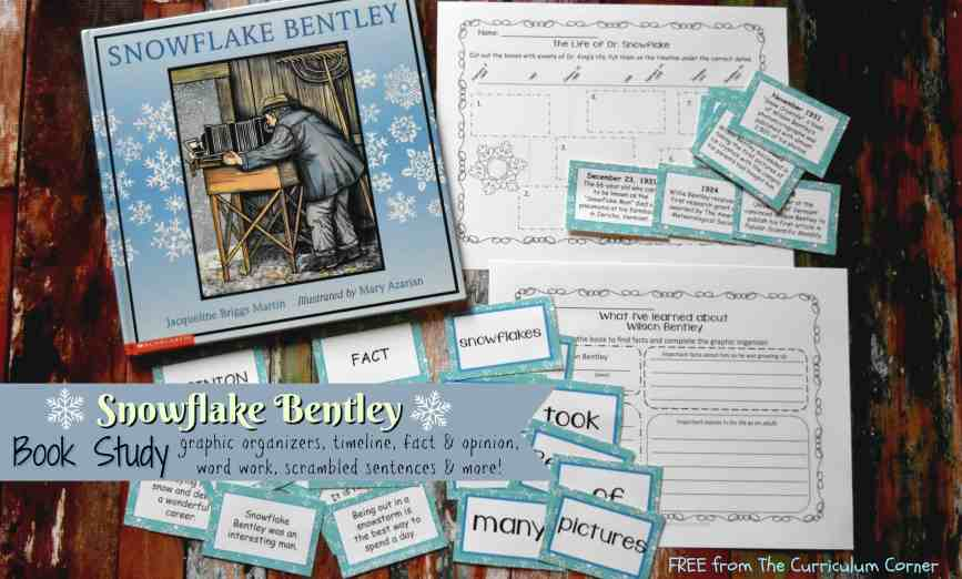 FREE Snowflake Bentley Book Study from The Curriculum Corner