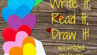 Valentine's Day Read, Write & Draw It!
