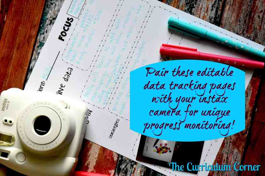 FREE Data Tracking Resources for the Classroom | Use photos to document learning with these printables | The Curriculum Corner