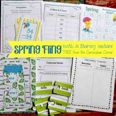 Spring Fling Math & Literacy Centers