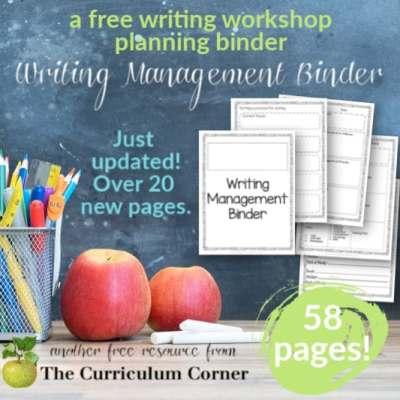 Editable Writing Management Binder